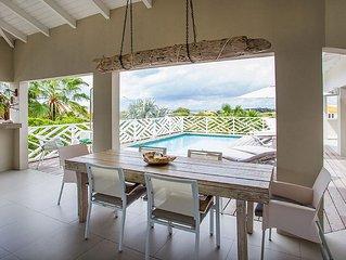2-7 p. Villa met prive zwembad direct naast de mooie stranden van Jan Thiel