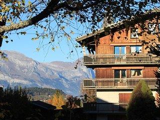MEGEVE tres bel appartement a Rochebrune vue panoramique