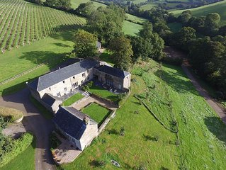 Quality Stone Barns With Heated Swimming Pool Located in 64 Acres Of Farm Land