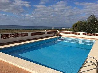 Villa in Son Bou, amazing sea views, 4 bedrooms, private pool, wifi, UK TV.
