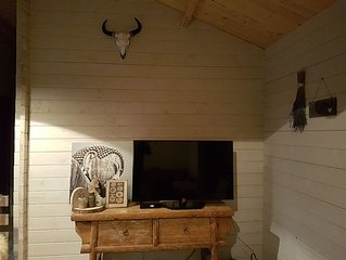 Wooden luxury chalet in a quiet place near the beautiful nature.