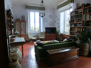 Villa Built In 1888 With Amazing Sea Views And Garden, Frescoed Ceilings.