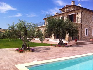 Stunning villa with private pool in peaceful olive grove