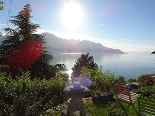 Vue spectaculaire! Très bel appartement avec vue sur le lac et les montagnes!