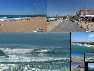 F3 ANGLET CHIBERTA,  MER et GOLF,Accès plages à pied.