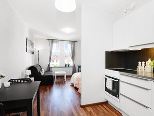 Superior Studio Apartment only 8 minutes from Stockholm C