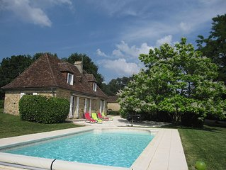 Relax and enjoy old stone cottage with heated swimming pool