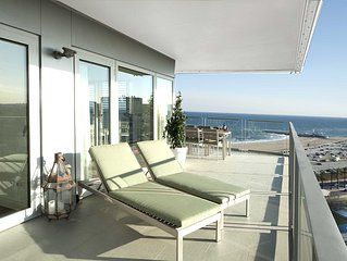 Sea and city view terrace apartment with private terrace - B502 - Five Bedroom