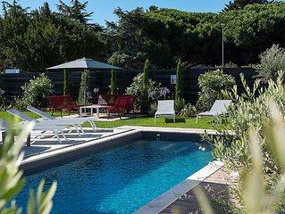 Villa avec piscine chauffée - entièrement réhabilitée par architecte