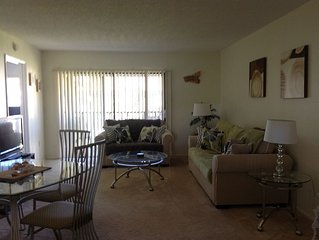 Florida Gulf coast condo ideally located for golf, beaches and theme parks