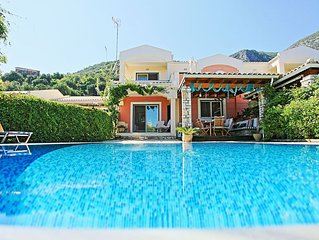 Stunning villa with private pool in Barbati, just a few steps from the beach
