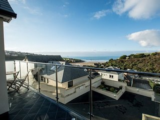 A stunning contemporary 4 bed property with magnificent sea views over Polzeath