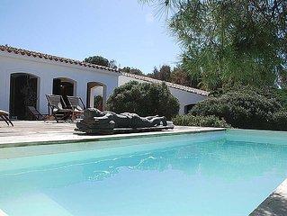 Villa in Porto Pino with 5 bedrooms sleeps 10