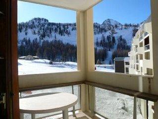 Appartement 2 pieces au sud dans le front de neige, pistes au pied de l'immeubl