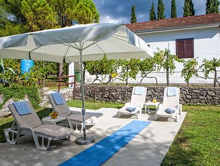 Villa With Pool, Peaceful Location, Large Garden with conifers and fruit trees