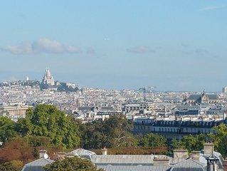 Duplex avec terrasse vue Panoramique de 360° : jardin Luxembourg -  Promo Mars