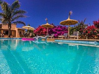 Casa mediterranea con piscina - WiFi