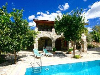 Unique Restored Stone Villa With Private Pool and Beautiful Mountain Views.