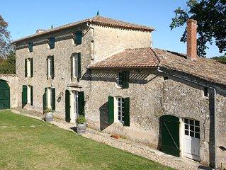 Maison de Maitre,Private Pool,9 En-Suite Bedrooms,Large Range Of Sports Inc.Golf