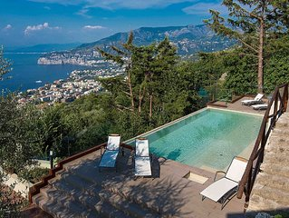 Villa Davide , infinity pool,sea view,Jacuzzi,garden and terraces and  .