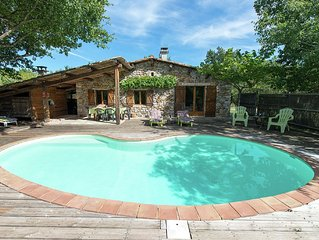 Atmospheric house in the Ardeche, made of ecological materials, with private sw