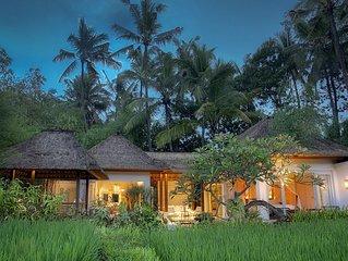 Rest in True Luxury with Stunning Rice Field Views