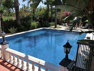 Beautiful gardens and pool setting