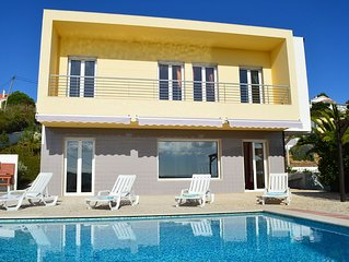 Tranquil family villa with lovely sea view, easy stroll to centre and beach