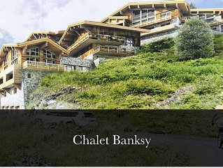 Chalet Banksy - Designed by Guerlain Chicherit - BRAND NEW FOR MARCH 2017