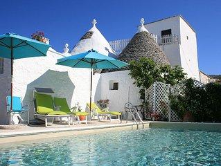 Restored Trullo Villa near Locorotondo. Pool. Spectacular Views to the sea. WIFI