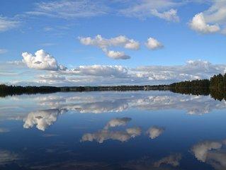 Ferienhaus direkt am See Tiken bei Tingsryd mit Boot und Sauna in Småland