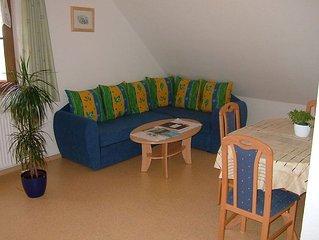 Ferienwohnung 2, 43qm, 1 Schlafzimmer, max. 4 Personen