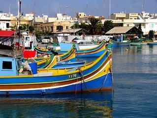 'Ta Diegu' - Nette, private Ferienwohnung in Marsaxlokk mit grosser Dachterrasse