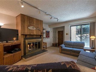 Cozy Ski-in/Walk-out condo, outdoor hot tub, free wifi, parking, athletic club,