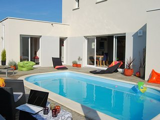 Villa avec piscine privée, à 800 mètres de la plage, proche du Cap Fréhel