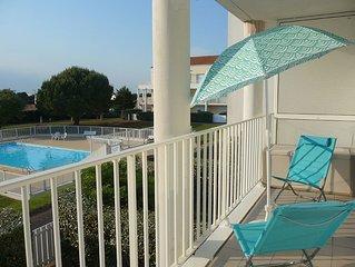 Appartement T2/2** avec piscine, proche plage, foret et commerces