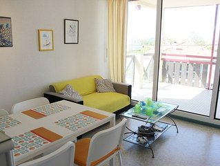 Apartment 2 rooms + alcove 4 persons.Near beach