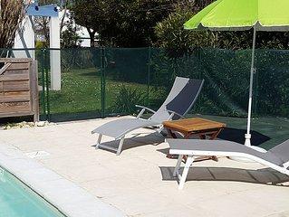 villa  dolus d'oleron,piscine chauffée commune à nos 2 logement(4p et 6p)