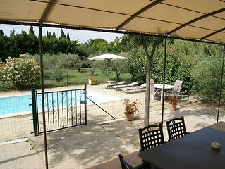 Detached air-conditioned house, private pool in olive grove of 2000 sqm