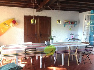 Villa 4 chambres, piscine, 400 m de la plage Pour 8 personnes