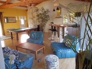 Villa atypique de 120 M2 grande piece a vivre avec deux chambre