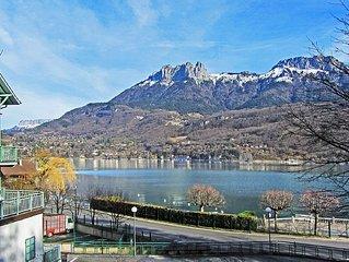 Vue Lac Annecy: T2 moderne et lumineux, 2-4 personnes - Terrasse