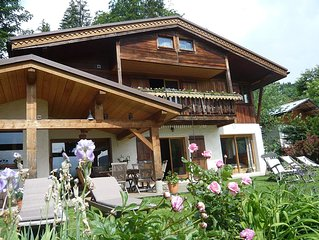 Large chalet, panoramic view et good furnishings 1100m height 2km from La Clusaz