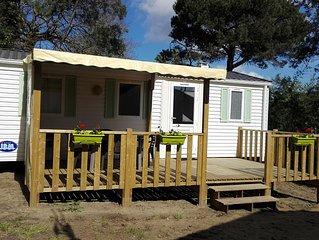 Mobil home 3 chambres au calme Oléron camping 4* les pins Le Grand Village Plage