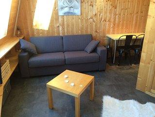 Tres Joli Studio renove 3/4 pers. Coeur station, skis aux pieds, classe 2*