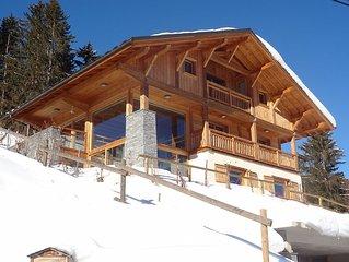 Grand chalet neuf, calme et lumineux, vue imprenable sur Mt Blanc