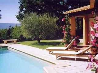 Villa piscine Roussillon Provence Luberon