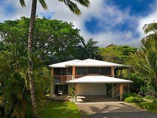 Gorgeous Hanalei Home & Short Walk to Hanalei Beach!
