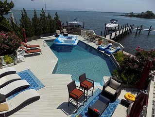 Spacious, Upscale, 7 Bdrm, 3 Stry, Bay Front Home Perfect for Family Gatherings