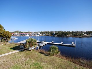 WATERFRONT, RIVERS EDGE CONDO #1C-BLDG 2 *PRIVATE DOCK and ASSIGNED BOAT SLIP!